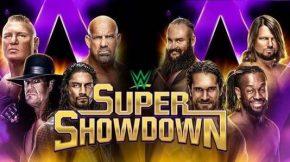 عرض سوبر شو داون WWE Super Show Down 27.2.2020 مترجم 28-2-2020
